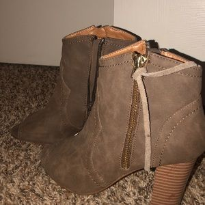 Cute faux leather booties